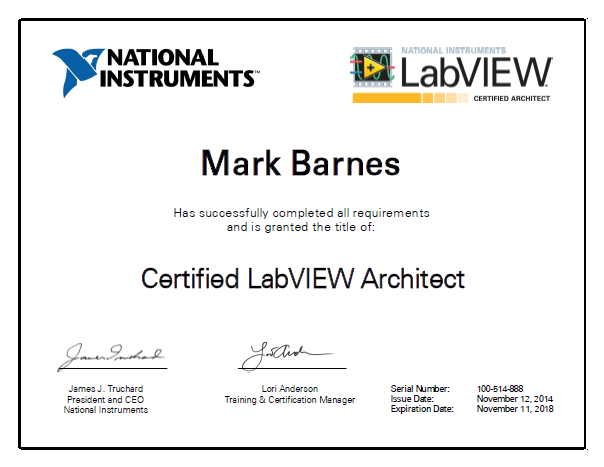 Simplicity AI gains another Certified LabVIEW Architect