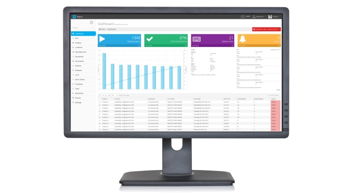 Lcd flat monitor, isolated on a white background
