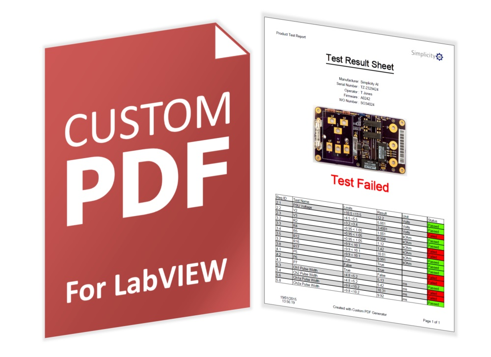 Custom PDF Generator For LabVIEW Version 3 – Now Released
