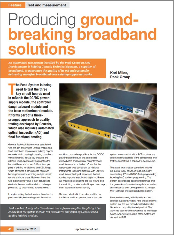 Simplicity AI Software Ensures Quality of Ultra-fast Broadband Systems